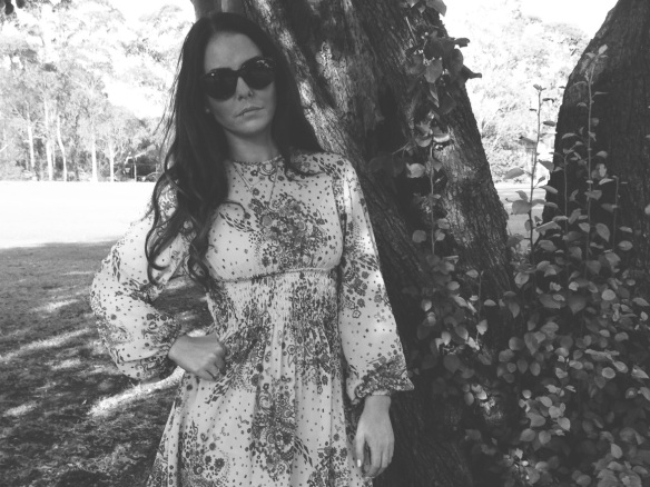 Vintage floral print dress The Row Shades black and white